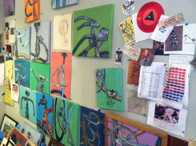 Bicycle Images Adorn the Walls